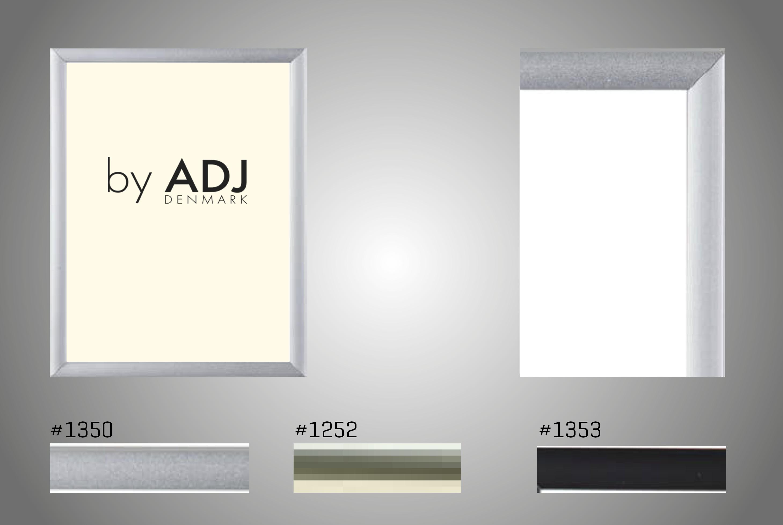 Aluramme med refleksfri frontglas i 9 mm